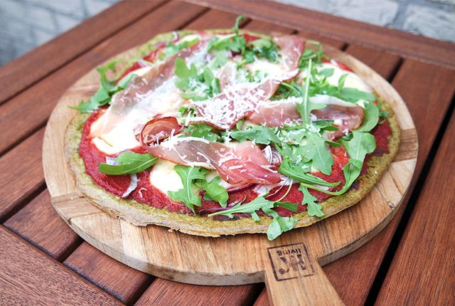 Havermout pizza met spinazie - Focus on Foodies