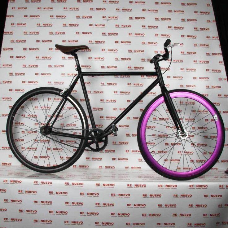 Bicicleta fixed negra#bicicleta#de segunda mano#carretera