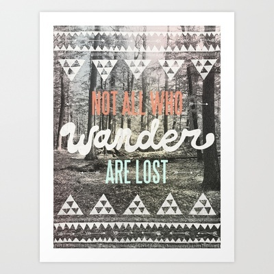 hmmm... new color pallet for the bedroom? the walls are this mint color.    Wander Art Print by Wesley Bird - $18.00