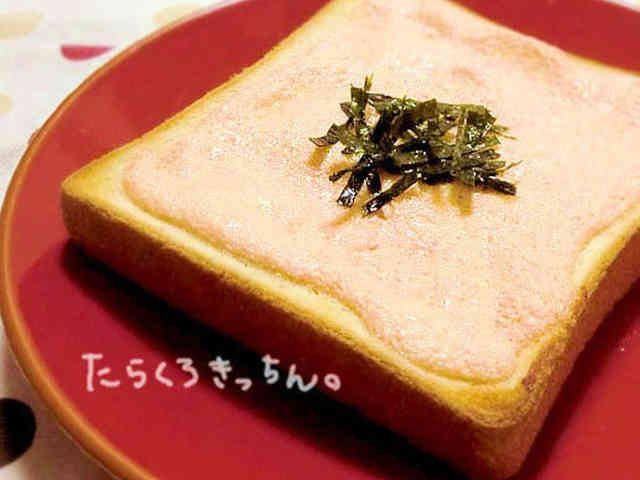 パン屋さんの味*明太トーストの画像