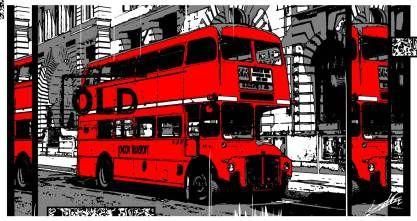 Tableau Londres noir et blanc London Bus