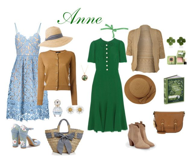 """Anne of green gables"" by mi-na-3 on Polyvore featuring Luz Camino, Benefit, JustFab, Emilio Pucci, Loveless, WearAll, Marc Jacobs, Hat Attack, Lauren Ralph Lauren and Filippo Catarzi"