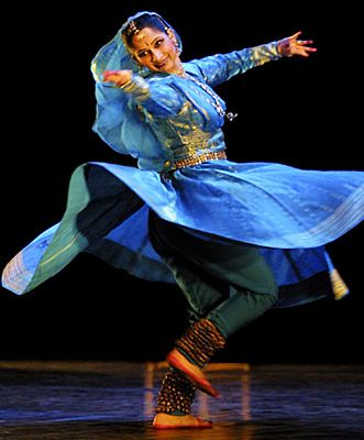 """Kathak is the major classical dance form of northern India. The word kathak means """"to tell a story"""". It is derived from the dance dramas of ancient India."""