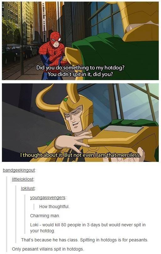 Good guy Loki.: