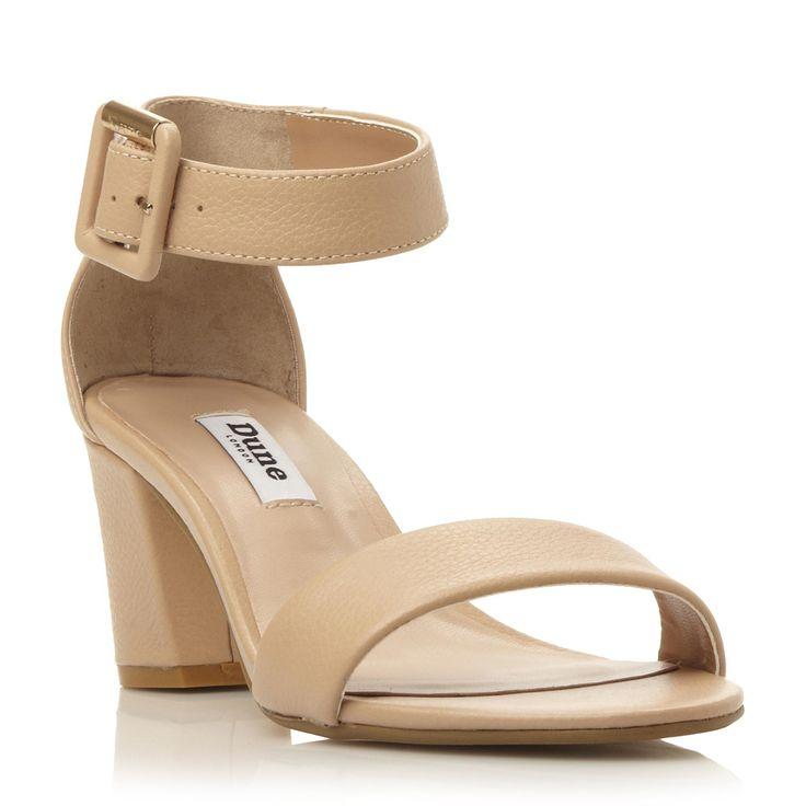 DUNE LADIES JOYE - Two Part Block Heel Sandal - nude ...