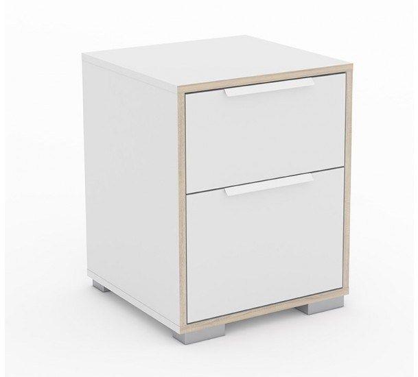 Line Sengebord - Sengebord i hvit med 2 rom