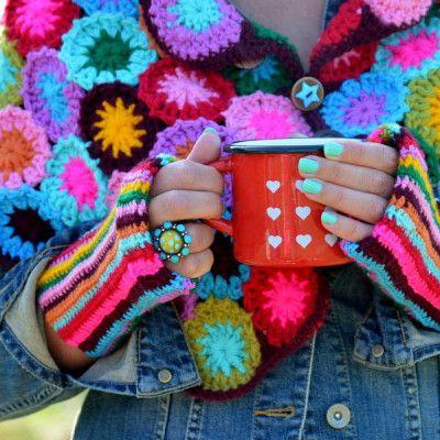 11 besten Häkeljacken Bilder auf Pinterest   Jacken, Häkeljacke und ...