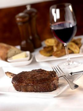 Gotta love a great steak!! If you are near Sea-Tac Airport make sure you stop here! Bone in Steak served at Spencer's for Steaks & Chops located inside the Hilton Seattle Airport Hotel & Conference Center in Seatle Southside.