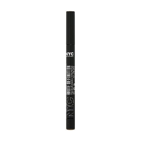 NYC Liquid Eyeliner 0040233 NYC Liquid Eyeliner. This staple liner can do fine or bold lines without the fuss. With its mistake-free applicator, elongate your lash line to shape and define your eyes like never before. For added  http://www.MightGet.com/may-2017-1/nyc-liquid-eyeliner-0040233.asp