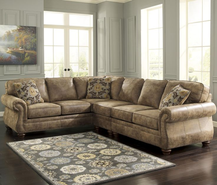 Larkinhurst - Earth Sectional with LAF Sofa by Signature Design by Ashley