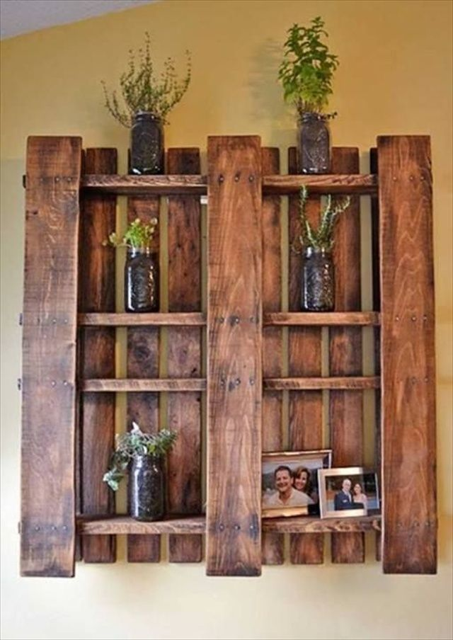 Rustic Pallet Shelf, Wood Shelf, Pallet Wall, Large Rustic Wood Shelves,  Long