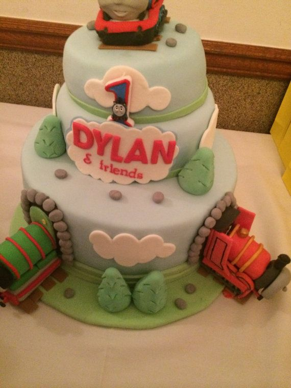 Thomas and friends cake kit by azucarart on Etsy