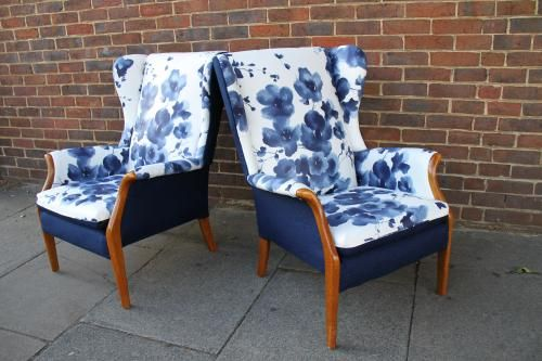 Re-upholstered Parker Knoll Armchairs