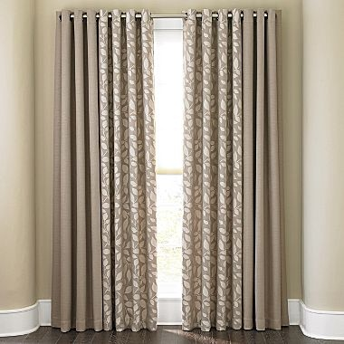 Cindy Crawford Style Sonoma Solid Drapery Panel Jcpenney Idea For Mixing Solid And Print