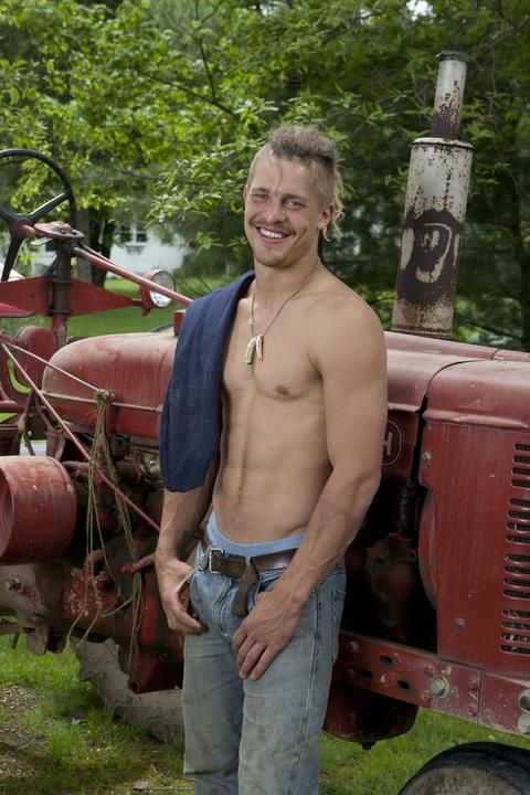 "Say hello to Peter King, one of the 9 King brothers featured on GAC's new series ""Farm Kings""...More photos and info about the show at www.gactv.com/farmkings"