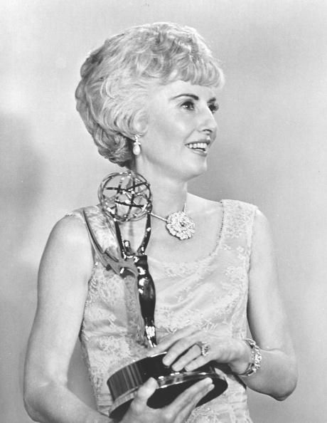 With her 1966 Emmy for THE BIG VALLEY.