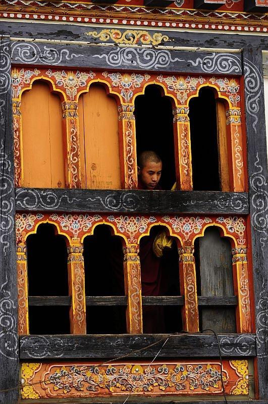 """""""Monk at Prakar (Tsechu ) festival"""", Bumthang area, Bhutan"""