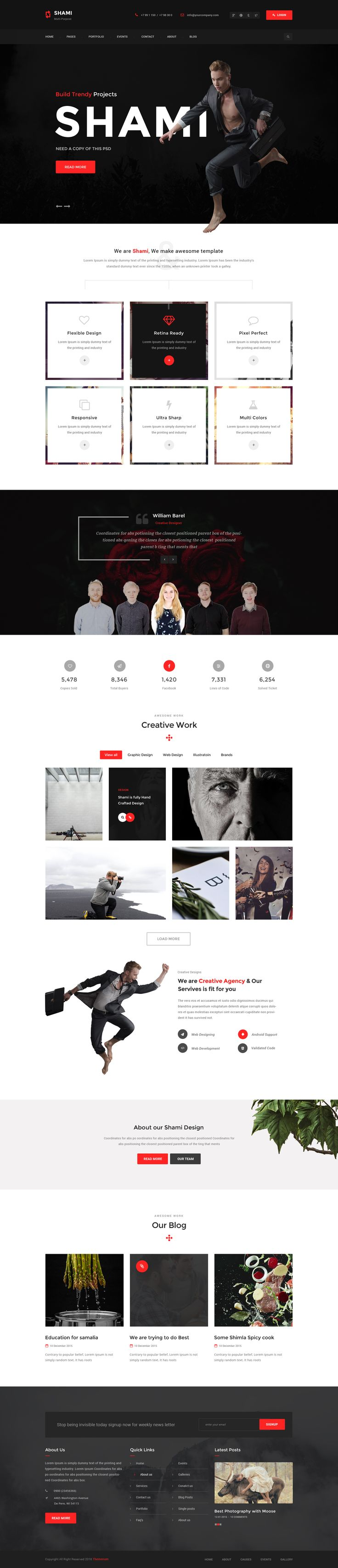 Themenum - A stunning and Creative Multipurpose PSD Template • Download ➝…
