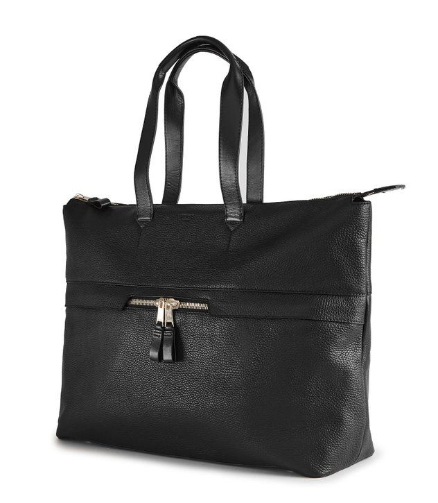 REISS - NEWMAN ZIP LEATHER TOTE BAG