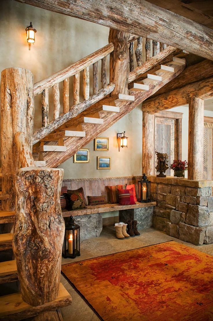 Rustic Elegance Re Defined In A Big Sky Mountain Retreat