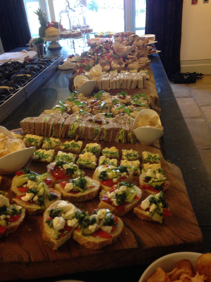We served a selection of open and closed sandwiches with tasty toppings on a large Oak board, prior to the ceremony for John and Louise's family.