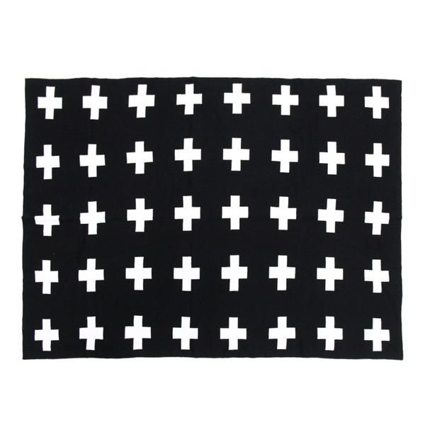Reversible Swiss cross cotton blanket for babies and toddlers available for pre-order at Desa Life. www.desa.life
