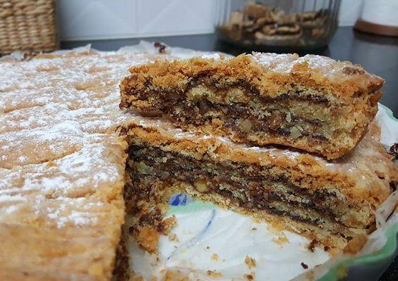 עוגת שכבות בצק פריך בנוטלה / עוגת השבת שלי - נירה חופי-  מבשלים ואופים עם מאסטר מתכונים