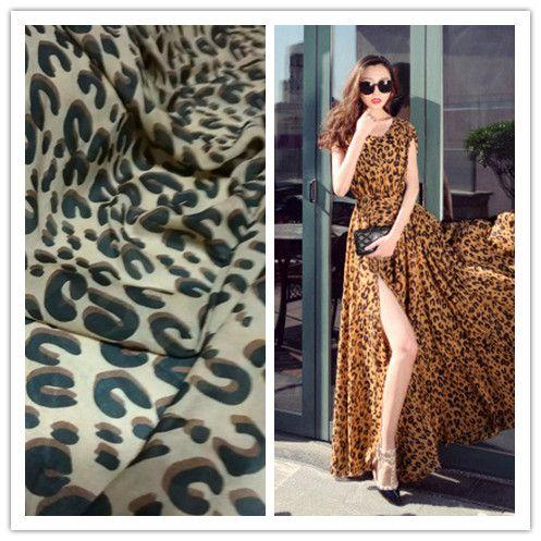 Luipaard chiffon stof doek zomer strand jurk stoffen sjaals