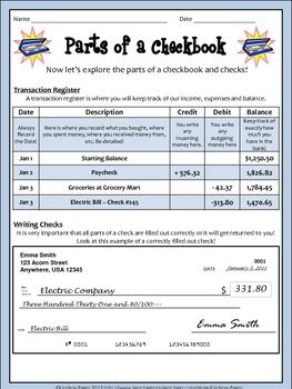 Worksheet Checking Account Worksheets 1000 ideas about checkbook register on pinterest check this lesson is a great way to introduce students writing checks and balancing checkbooks