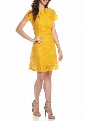 ALLEN B. BY ALLEN SCHWARTZ  Peter Pan Collar Lace Dress