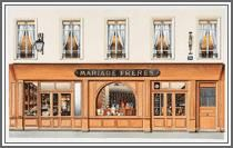maison de thé Mariage Freres is a FANtastic place to stop and rest while shopping in Paris. There are a few in the city of lights.