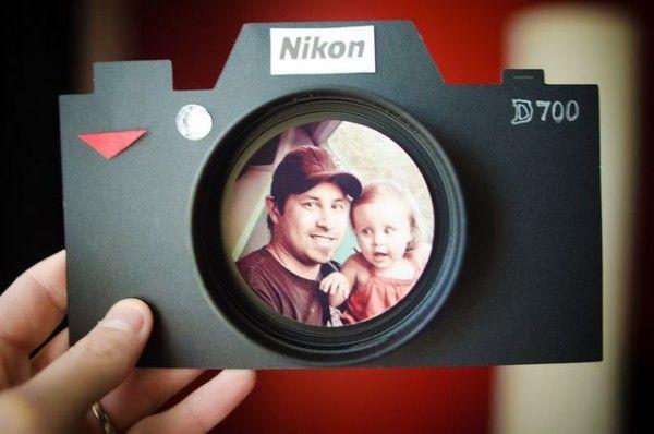 Tarjeta con foto dia del padre