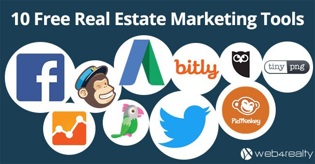 Top 10 Free Marketing Tools for Real Estate Agents → https://www.web4realty.com/top-10-free-real-estate-marketing-tools/?utm_content=bufferfe5f6&utm_medium=social&utm_source=pinterest.com&utm_campaign=buffer #RealEstateMarketing