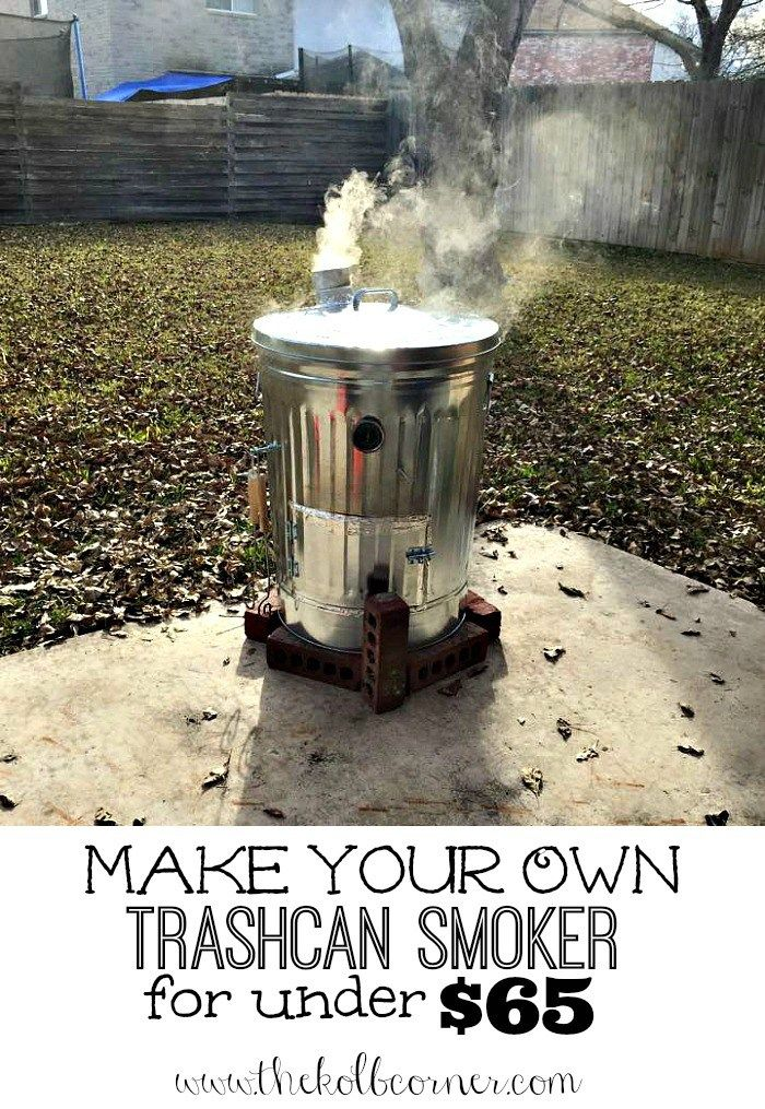 Make Your Own Trashcan Smoker for under $65
