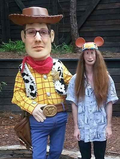 Woody and a Disney fan: | The 35 Most Disturbing Face Swaps Of All Time