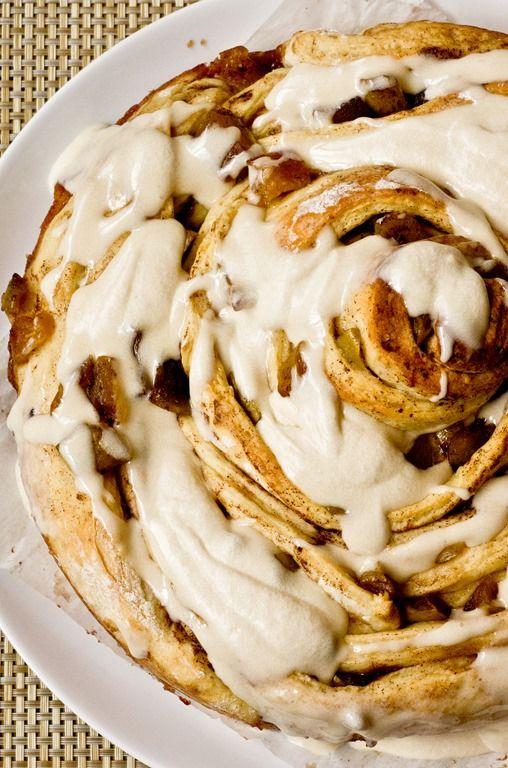 Giant Caramel Apple Cinnamon Bun - TO DIE FOR