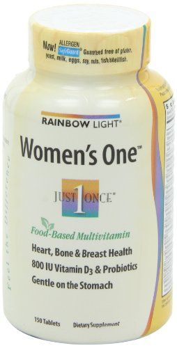 Rainbow Light Womens One, Just Once Multivitamin, 150 Tablets   Multi City Health  List Price: $46.99 Discount: $26.02 Sale Price: $20.97