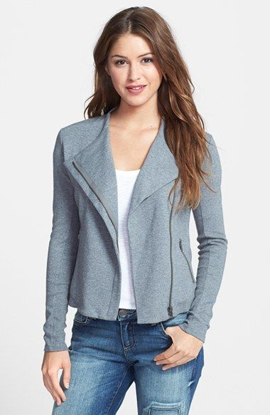 Halogen® Knit Moto Jacket (Regular & Petite) available at #Nordstrom