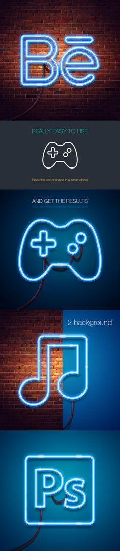 Free neon mock-up (33.7 MB) By Lil Bro on Behance   #free #photoshop #mockup #psd #neon