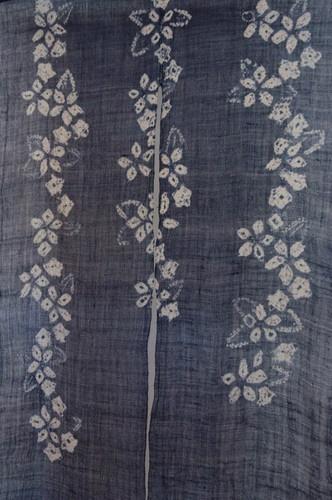 Shibori Noren, linen