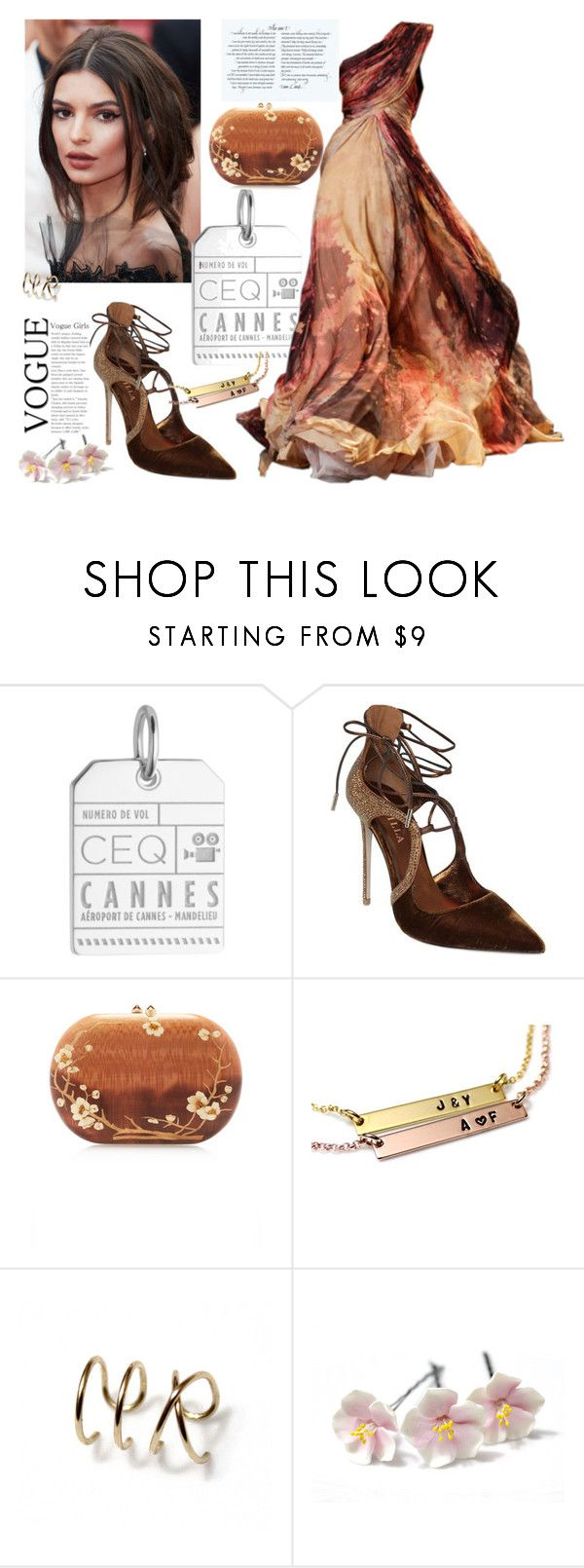 """""""Cannes"""" by treasury ❤ liked on Polyvore featuring Jet Set Candy, Elie Saab, Le Silla and Silvia Furmanovich"""