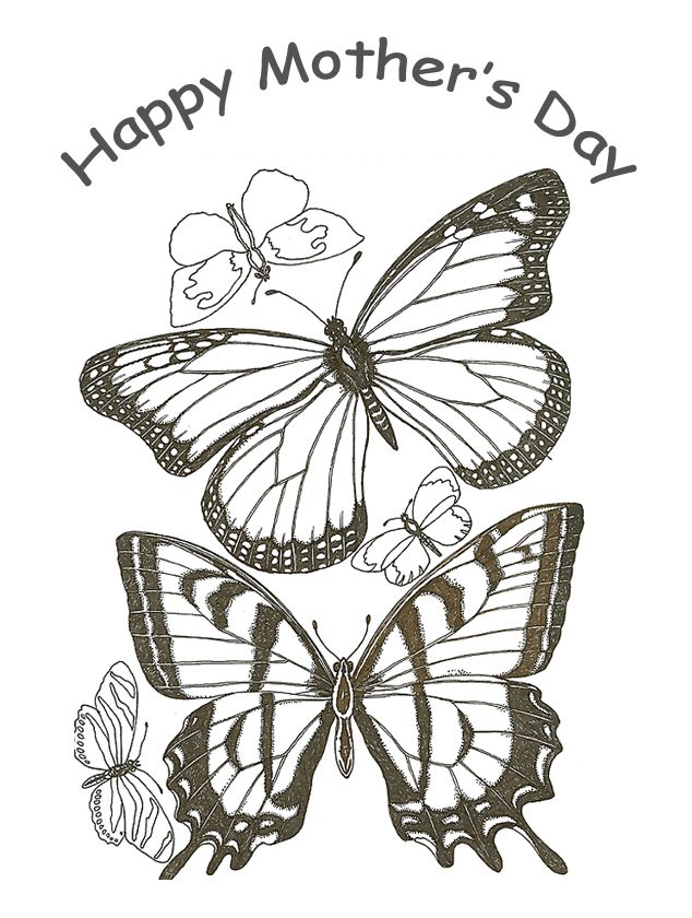 free printable coloring page for kids to make cards or give as gifts mothers day mom grandma aunt godmother stepmother