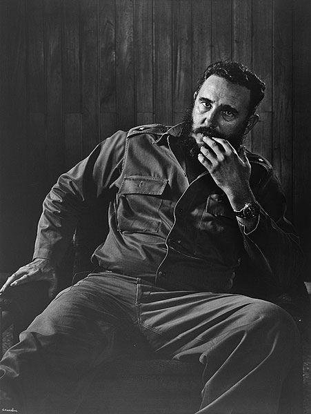 Les portraits de Yousuf Karsh, Fidel Castro.