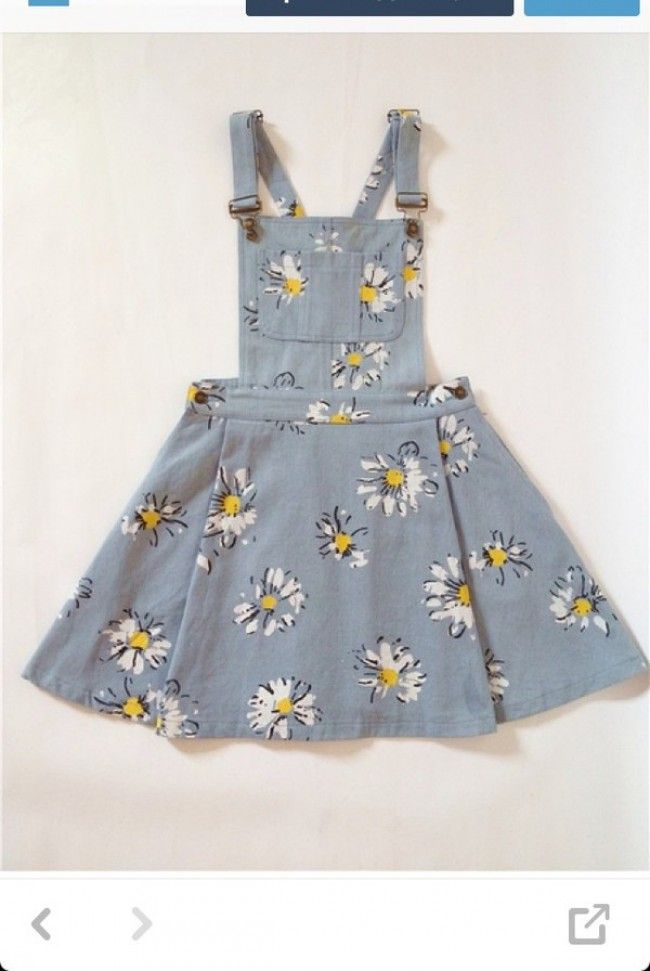 Pure and fresh and little daisy big skirt denim straps dress