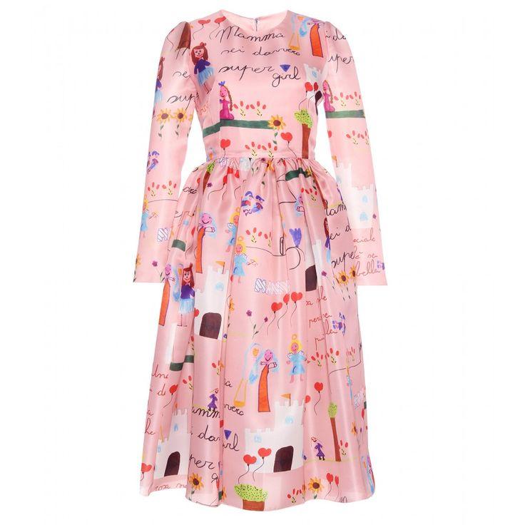 Dolce & Gabbana - Printed silk dress - Style this conversation starter elegantly with black sandals. - @ www.mytheresa.com