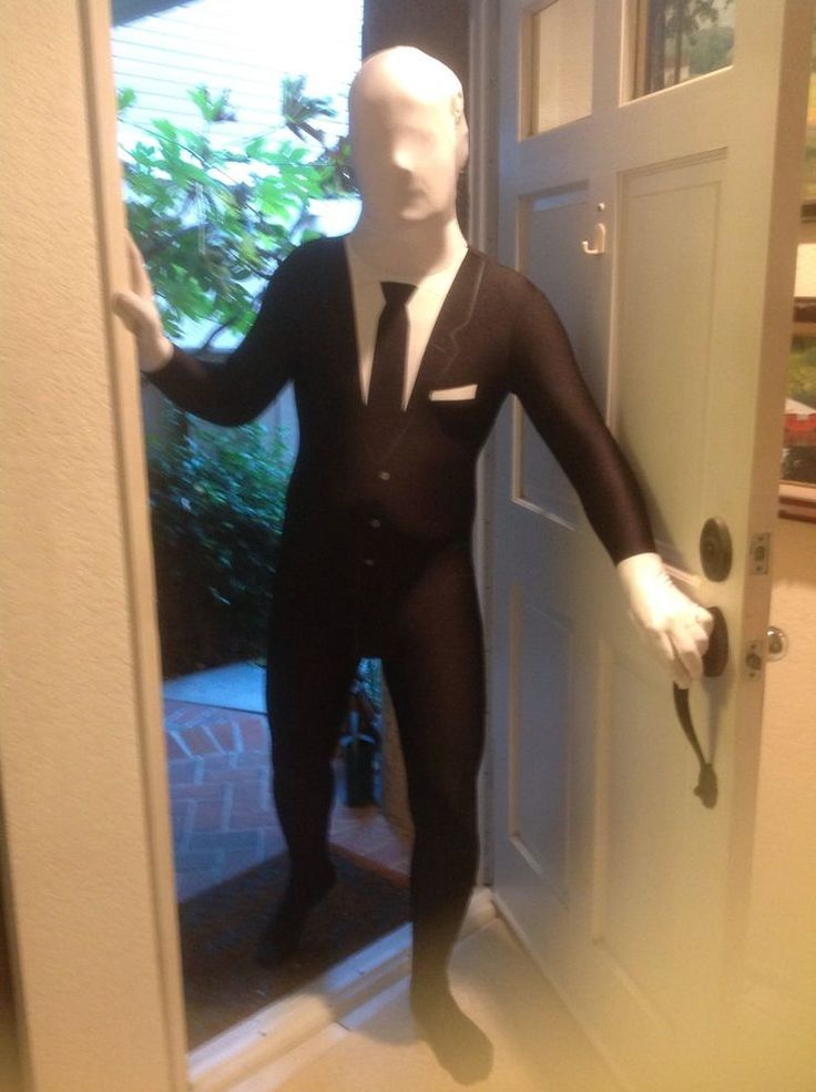Slender Man Morphsuit Costume Large Pre-owned #Morphsuits #costume