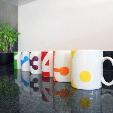 Numbers set mug