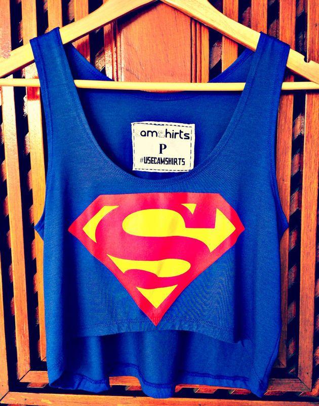 Crop Top - Superman - Cam Shirts