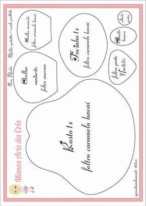 Moldes del Oso de Masha en Fieltro Moldes para hacer el simpático y famoso Oso de Masha en Fieltro. Molde Bebé en FieltroPatrón Muñeca de FieltroLinda gatita en fieltro con patronesLa Bella y La Bestia en fieltro con moldesMoldes muñeca embarazada en fieltroDIY Oso de NavidadDIY para hacer una bailarina de fieltroPatrón de …