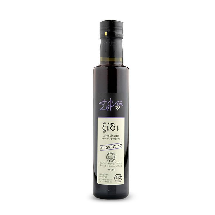 Organic red wine vinegar from Nemea Peleponnese